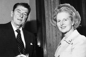 """里根夫人称撒切尔与里根是""""政治上的灵魂伴侣"""""""