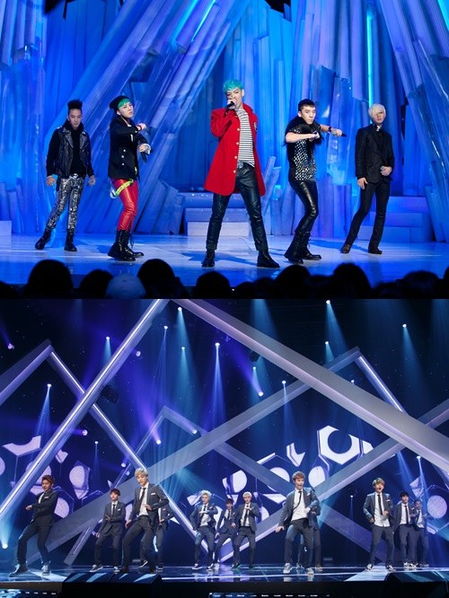 bigbang和exo确定出演2013mama 上演特别舞台