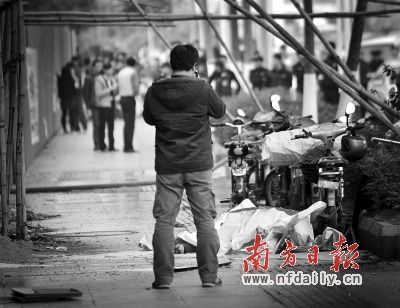 疑煤气罐爆炸起火 广州大石镇一公寓内租客坠亡