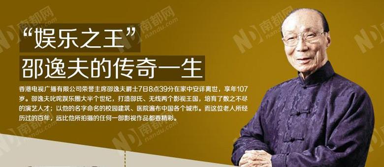 邵逸夫爵士仙逝 TVB三色台标变黑白致哀