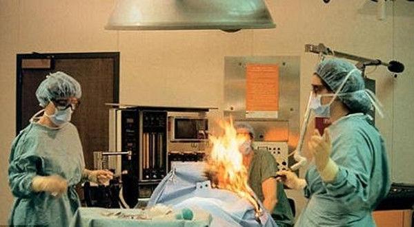 挪威医生给病人做手术时点燃酒精 病人三度灼伤(图)