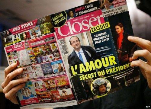 奥朗德绯闻女友起诉八卦杂志 索赔5万欧元