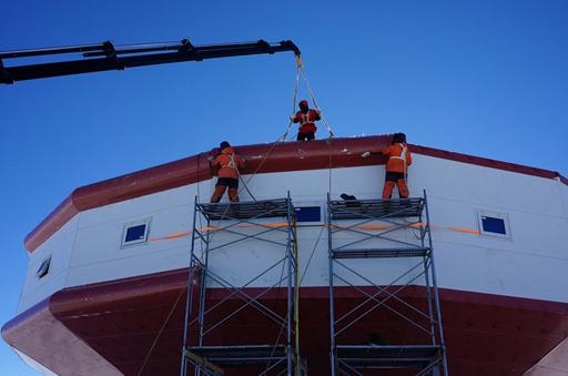 中国南极泰山站计划2月3日完成全部建筑施工(图)