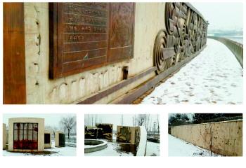 济南名人青铜浮雕被撬 修复莫言铜像需花费几万元