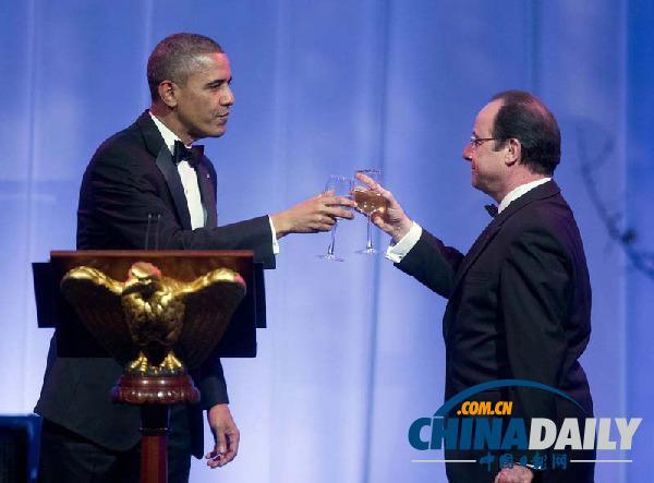 奥巴马被指用廉价酒水招待奥朗德 每瓶50美元