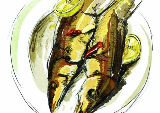 两个人的秋刀鱼