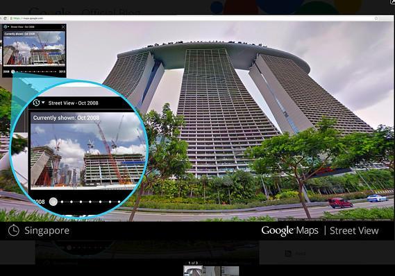 谷歌街景新功能:可穿越时空看过去风景