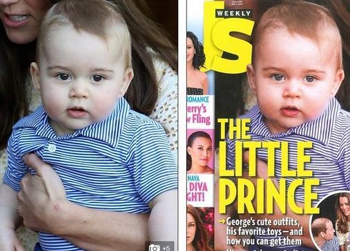 谁最爱美?9个月大乔治小王子登杂志已要修图
