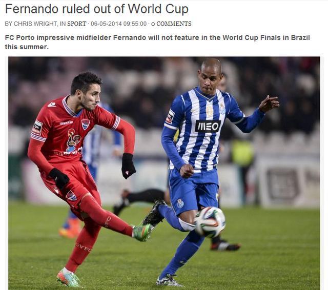 葡萄牙悍将无缘世界杯 科斯塔式案列没能再演