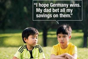 【囧闻集】新加坡反赌球广告因德国夺冠成励志片