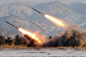 朝鲜疑发射3枚火箭弹