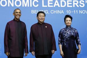 独家丨APEC晚宴揭秘:习近平被赞选服装眼光好