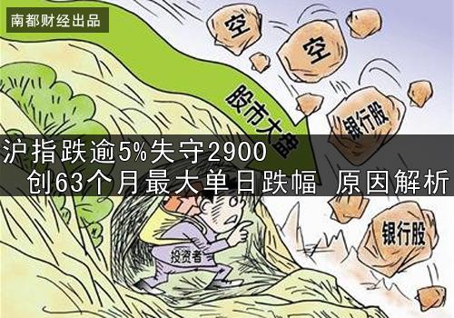 【财经风云】沪指跌逾5%失守2900创63个月最大单日跌幅 原因解析