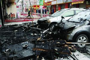 因退货问题与店员发生矛盾 东莞顾客怒烧商场泄愤