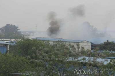 广州海珠区一厂区起火