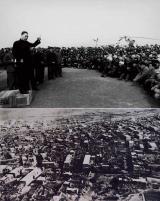 图为1966年3月9日,周恩来在慰问河北省邢台地震灾区民众。袁汝逊 摄